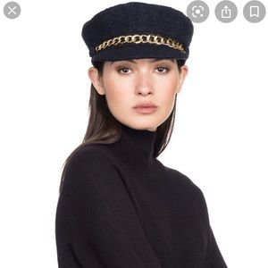 EUGENIA KIM Marina Chain trimmed tweed hat !